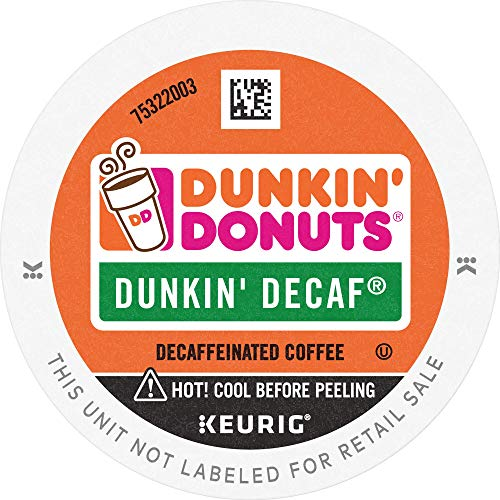 Dunkin' Donuts Decaf Medium Roast Coffee, 88 K Cups for Keurig Coffee Makers