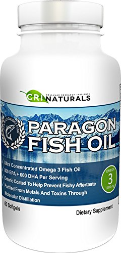 Paragon Fish Oil  Purest  Triple Strength  Omega 3 Fish Oil  Burpless  Highest  EPA  DHA