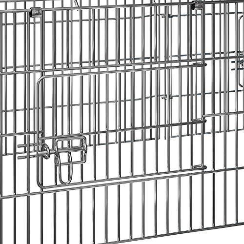 Kaninchenstall Hasenkäfig Hasengehege Hasenstall Sonnenschutz Käfig Freilauf Gehege Metall - 4