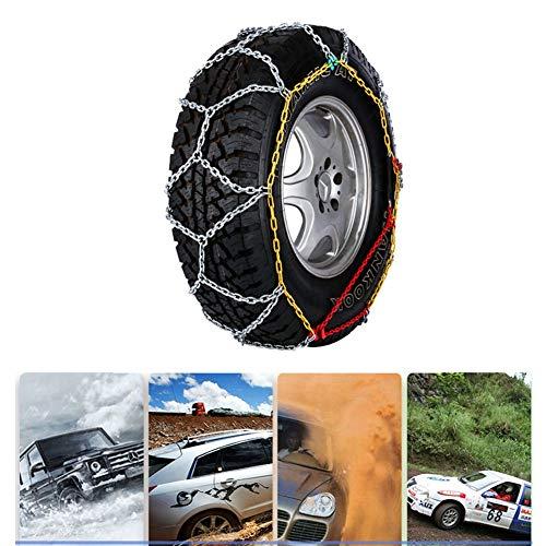 Cadenas Antideslizantes de neumáticos de Nieve de Portátil Cadenas de neumáticos Antideslizante Cadena de Nieve Precio por par para Furgonetas TPU y Camiones Ligeros Universal F (Size : 195/70×15)