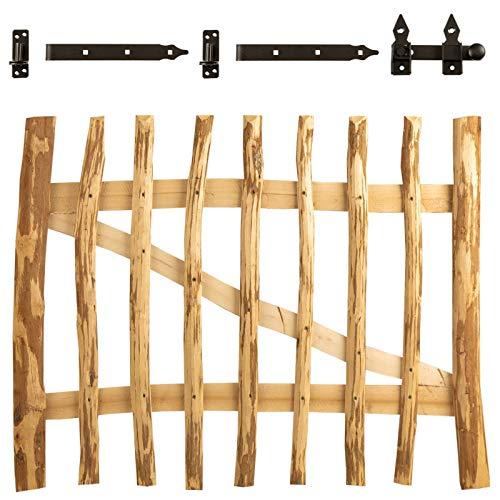 BooGardi Tuinhek hazelnoot in 14 maten - hek voor hekwerk hek/boerhek/kastanje hek incl. accessoires Lattenabstand: 3-5 cm bruin