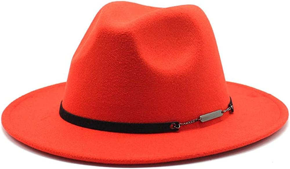 Women's and Men's Fedora Hat Classic Panama Wo Brim Elegant Challenge the lowest price of Japan ☆ Factory outlet Wide