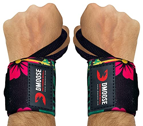 DMoose Wrist Wraps for Weightlifting 12 and 18 Inches Thumb Loops with...