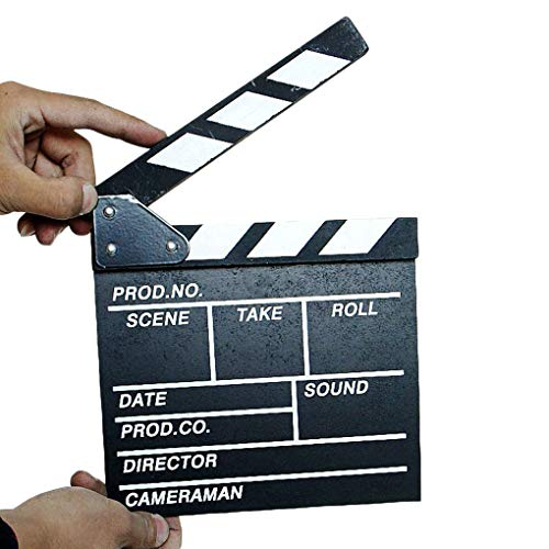 rongweiwang El Director de Escena de vdeo Claqueta TV Movie Clapper Board Pizarra de la pelcula de Corte Prop Plank