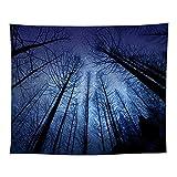 YDyun Tapiz Dormitorio Sala Dormitorio Decoración Manta de Pared de impresión Digital de Cielo Estrellado de Bosque denso /