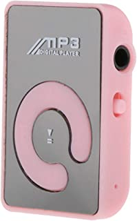 Blesiya Portable Clip Mini USB MP3 Music TF Card Up - Pink, 44x29x15mm