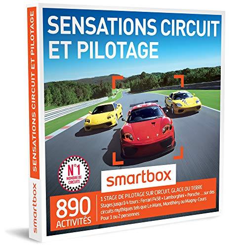 SMARTBOX - Coffret Cadeau - SENSATIONS CIRCUIT ET PILOTAGE - 545 Activités : Stages de Pilotage jusqu'à 3 Tours (Lamborghini, Ferrari, Porsche…)