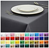 Rollmayer Tischdecke Tischtuch Tischläufer Tischwäsche Gastronomie Kollektion Vivid (Grafit 33, 140x160cm) Uni einfarbig pflegeleicht waschbar 40 Farben