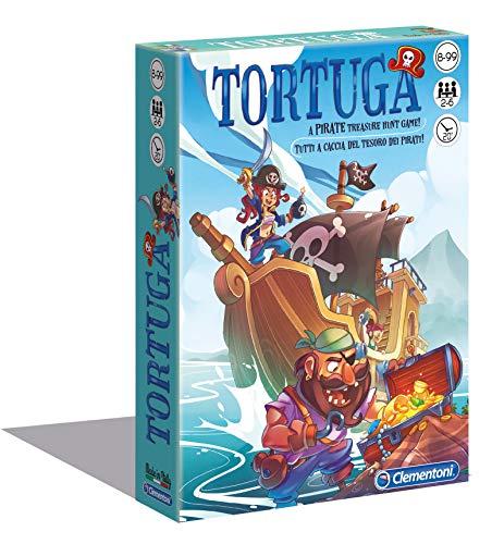 Clementoni- Tortuga Pirati Gioco da Tavola, Multicolore, 16567