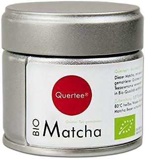 Quertee® - Japón Original bio té matcha - PREMIUM CALIDAD para escuchar - En, 1er Pack (1 x 30 g)
