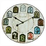 Alfombra acogedora Mesa de centro redonda Alfombra de reloj vintage Alfombra suave Alfombra de la sala de estar de la cesta Cesta multifunción Cojín para silla Estera Cojín para cuna ( Color : 60CM )