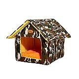 Casa para Mascotas Al Aire Libre, Refugio Impermeable para Mascotas...