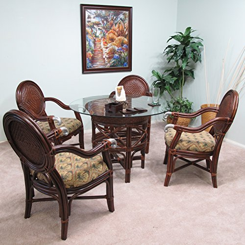 Awesome Check Price Calama Rattan Wicker Dining Chair Table 5 Piece Bralicious Painted Fabric Chair Ideas Braliciousco