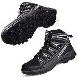 [TONGYANWUJI] トレッキングシューズ メンズ レディース ハイカット 軽量 ハイキングシューズ 厚い底 防滑 登山靴 ハイシューズ 耐摩耗性 ハイシューズ ウォーキングシューズ 男女兼用