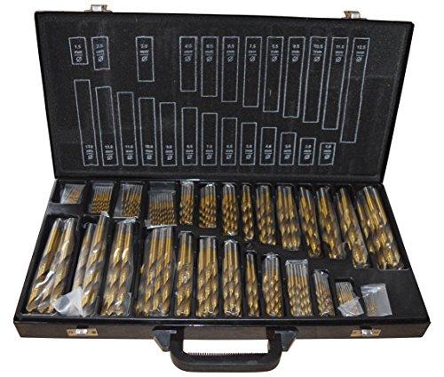 Bohrer Set 230 tlg TITAN HSS TiN Metallbohrer 1-13 mm Sortiment Bohrerkassette