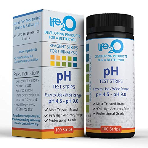 pH Test Strips to Monitor Body Alkaline and Acid Levels, Saliva and Urine Dip-Stick Tester kit for Men and Women, Urinalysis Reagent pH Balance Testing Kit