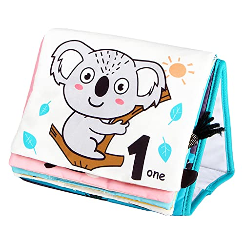 F Fityle Baby Cloth Book Cognition Sensory Activity Book for Baby Boys and Girls Toddlers - Animal World