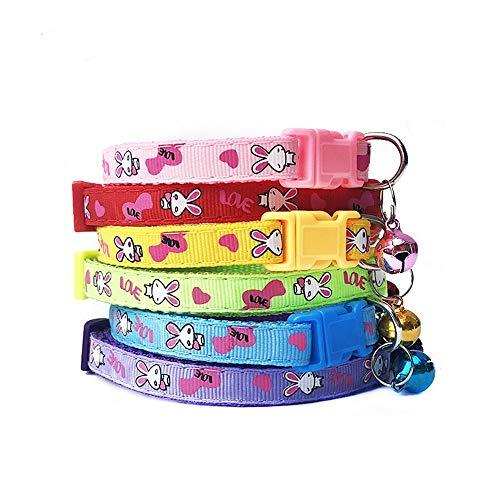LCFA-P首輪、猫、首輪、リボン、猫首輪、ストッキング、かわいい、ペット首輪、猫、子猫用首輪、安全ボタン、猫首輪、安全、ファッション、超軽量ペット首輪、調節可能(6色)