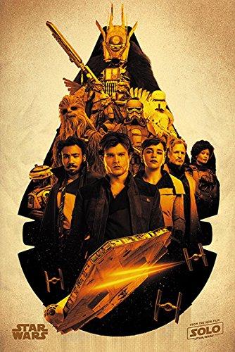 Star Wars Póster Solo Story - Millenium Falcon Montage (61cm x 91,5cm) + 1 Póster con Motivo de Paraiso Playero