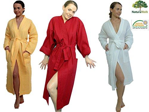 Bademantel, Piquee als Kimono von Naturawalk Grösse L Weiss