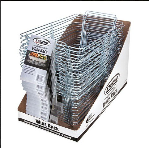 Sterno Candle Lamp Wire Chafing Dish Rack, 23.25' Length x...