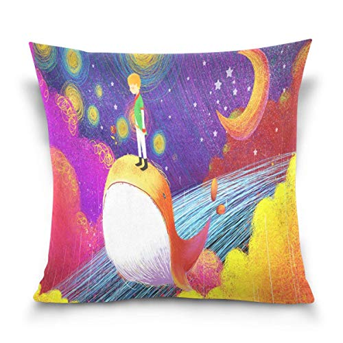 lucies Bright Stars in The Sky Throw Pillow Covers Case Soft Comfortable Decorative Cushion 18'' X 18'' Both Sides Print for Sofa Couch Bed Office Car