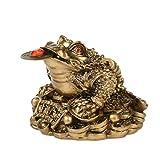 Lioobo Feng Shui Richesse à trois pattes de grenouille traditionnelle pour décoration de maison