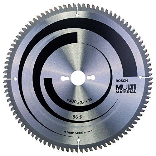 Bosch 2 608 640 518  - Disco de sierra circular Multi Material , 96 de dientes, 300 x 30 x 3.2 mm, 1 unidad