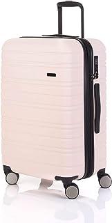 Flylite Horizon 65cm Hard Suitcase Luggage Trolley Pale Pink Medium