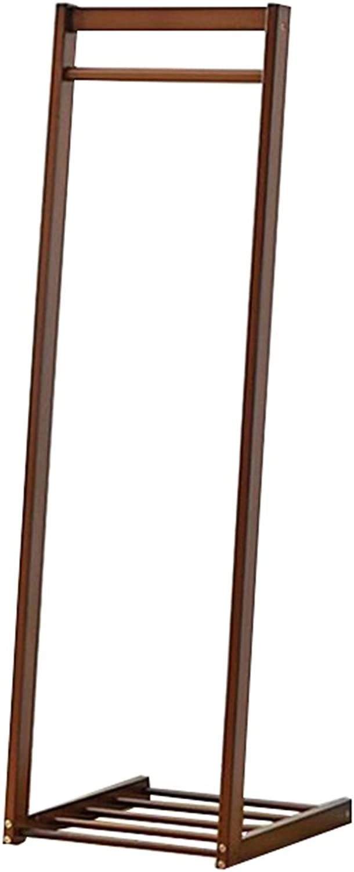Floor Coat Rack Tree Solid Wood Wooden With 40CM  45CM  150CM Multi-function Shelves Movable Hanger ( color   Brown )