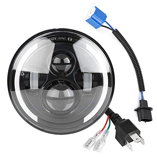 Lámpara LED de luz suave, faro LED, faro LED de 7 pulgadas, faro súper ancho, faro de proyector de motocicleta, faro LED redondo, faros LED de 150 W CJ-7 para Rover Defender para Hummer