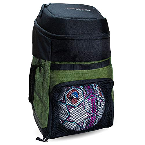 Soccer Bags With Ball Holder - Use As Soccer Backpack, Basketball Backpack, Volleyball Bag or Football Bag | Separate Cleats & Ball Pockets | Designed For Boys & Girls Ages 4-16 |Keeps It Organized