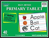 iScholar Multi-Method Primary Tablet, 1 Inch Ruling, 40 Sheets, 11 x 8.5 Inches (11801)