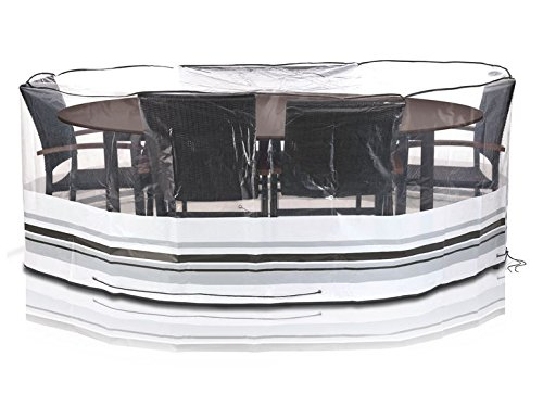 Florabest Gartenmöbel- Schutzhülle Abdeckhaube 160 x 230 x 90 cm Oval Reißfest Witterungs und Uv -beständig