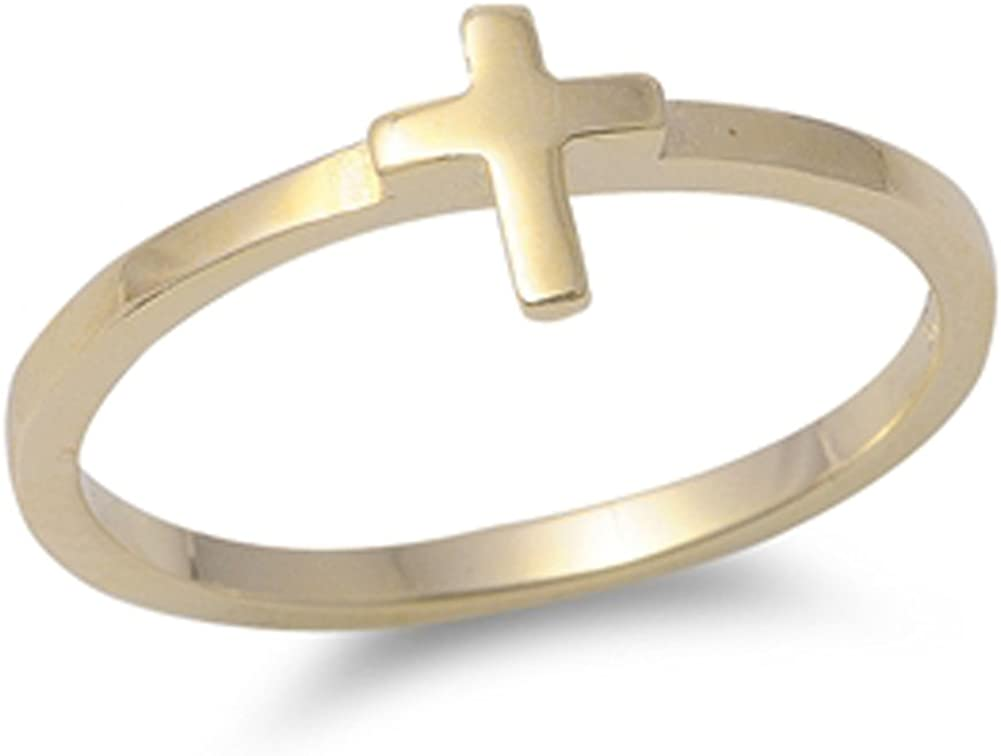 CHOOSE YOUR COLOR Sterling Our shop most popular Cross Ring Silver Soldering