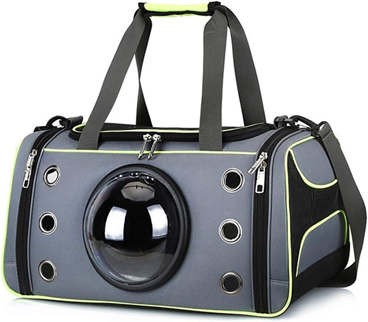 Pet Carrier for Small Dogs Cats Rabbits Cat Travel Carrier Bag Pet Tote Pet Carrier Rucksack Carrier Bag Pet Travel Bag (color   Green, Size   S)