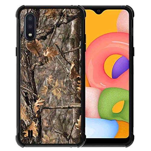 Phone Case for Samsung Galaxy A01 Case for Girls Women Hunting Camo Forest Camouflage, ABLOOMBOX Anti Scratch Slim Bumper Shockproof Protective Case Cover Reinforced Corners