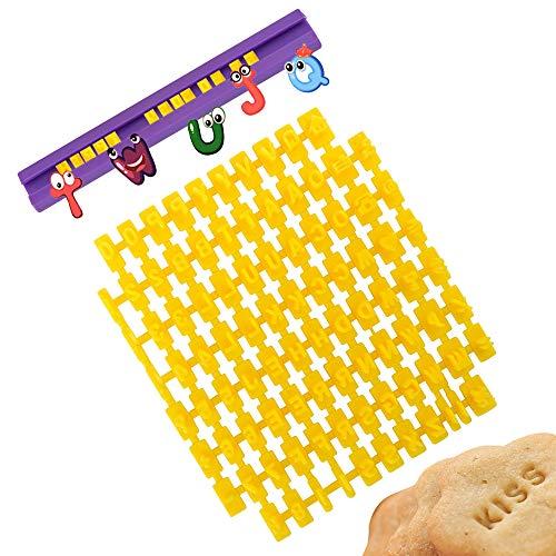 Lettere Pasta di Zucchero, XCOZU Stampini per Pasta di Zucchero/Lettere Cake Design, Stampo Biscotti Timbro Stampi Biscotti Lettere/Stampini Alfabeto Cookie Stamp(93 Lettere