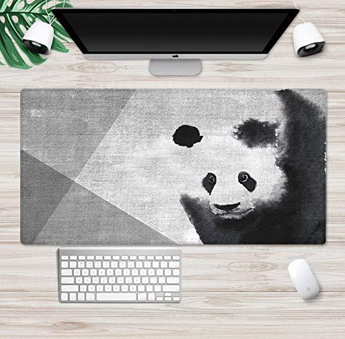 Mouse Pad Desk pad Antislipmat, Chinese inkt schilderij Leuke panda uit het oosten, Gaming Design Computer PC Laptop Kantoordecoratie, 80cm * 40cm * 3mm / 31,5 * 15,75 in * 3mm.