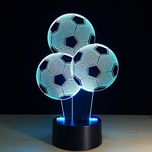 jiushixw 3D acryl nachtlampje met afstandsbediening kleur tafellamp voetbal desktop voetbal ringo lamp weegschaal