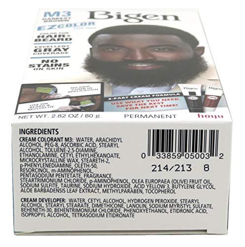 Bigen EZ Color for Men Darkest Brown Kit (Pack of 6)