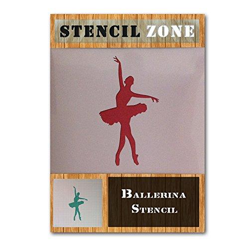 Ballerina-Ballett Croise Tanzen Tänzer mylar Malerei Kunstfertigkeiten Schablone (A6 Größe Stencil - XXSmall)