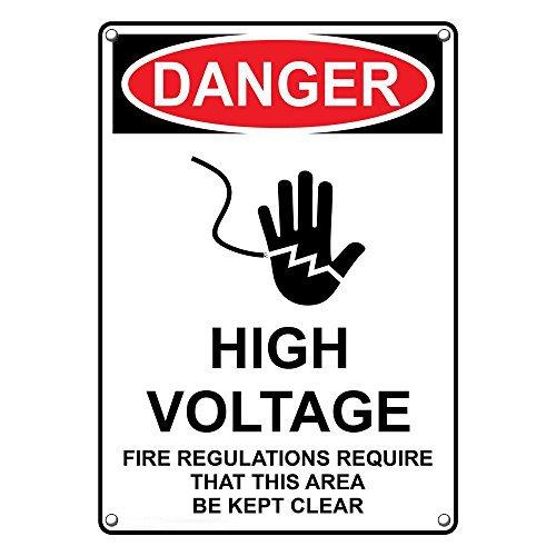 Weatherproof Plastic Vertical OSHA Danger Regu Fire half Manufacturer regenerated product High Voltage