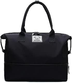 Women Tote Shoulder Handbags Large Waterproof Nylon Travel Gym Bag Weekender Bag