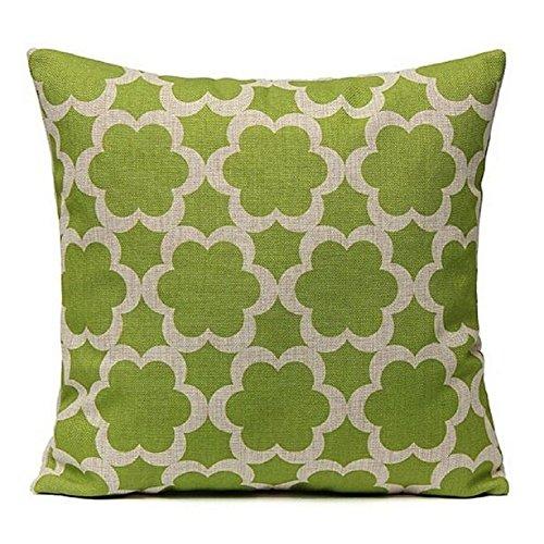 fapizi decoración para el hogar lino impreso cintura manta funda de almohada sofá coche cojín cuadrado