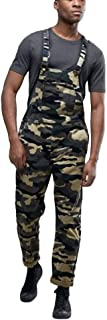 iYYVV Men`s Overall Casual Jumpsuit Jeans Wash Broken Pocket Trousers Suspender Pants