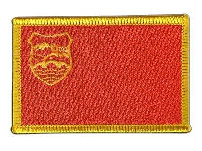 Aufnäher Patch Flagge Mazedonien Skopje - 8 x 6 cm