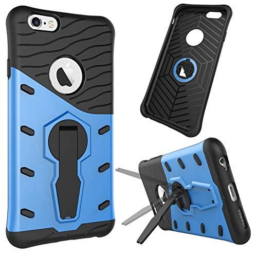 pinlu® Funda para Samsung Galaxy S9 Smartphone Doble Capa Híbrida Armadura Silicona TPU + PC Armor Case Duradero Protección Shock-Absorción Diseño Azul