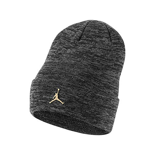 Nike Jordan Jumpman Metal Unisex Mütze, Carbon Heather/Metallic Gold