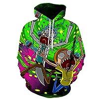 Synona Rick and Morty Sudaderas con Capucha Impresa en 3D Christmas Sweater J...